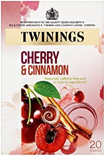 Twinings Cherry and Cinnamon 20 Tea Bags Pack of 8