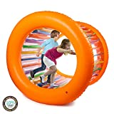 "Hoovy Giant Fun Inflatable Roller Outdoor Activities for Kids and Adults Families Playtime 51"" Diameter"