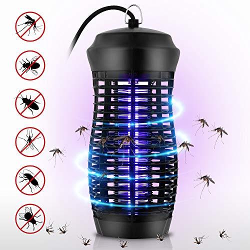 T98 UV Insektenvernichter, Elektrischer Insektenvernichter, 6W UV-Licht Camping Mückenlampe, Tragbare Moskito Fliegen Insektenlampe for Drinnen und Draußen