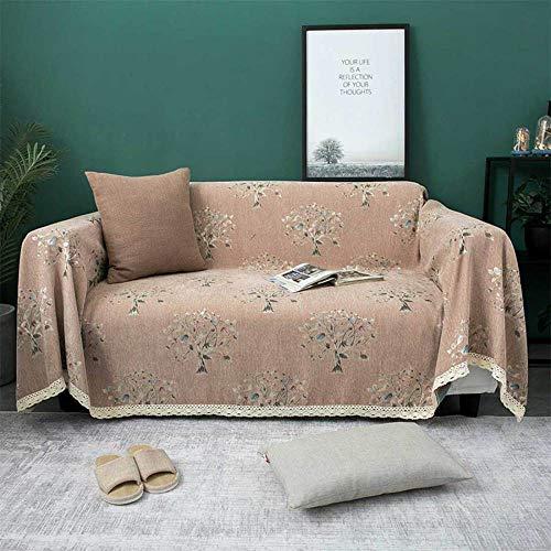 Chenilla engrosada cubierta completa sofá toalla hoja antideslizante elástico multifuncional cuatro estaciones universal sofá cojín cubierta de sofá toalla impermeable/C / 180 * 280cm