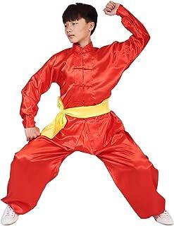 1d3b7cd48c9bc Gtagain Unisexe Costume Martiaux Vêtements - Adulte Enfants Garçons Filles  Manches Longues Femmes Shaolin Kung Fu
