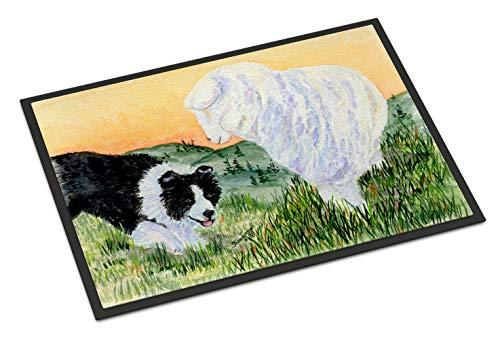Caroline's Treasures SS8103MAT Border Collie Indoor Outdoor Mat 18x27 Doormat, 18H X 27W, Multicolor