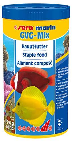 sera marin GVG-Mix die Meerwasser-Flocke mit ganzen Futtertieren als Leckerbissen mit Präbiotika für verbesserte Futterverwertung, geringere Wasserbelastung und weniger Algen im Meerwasseraquarium