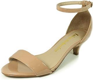 Sandália Salto Baixo Fino Luiza Sobreira Verniz Nude Mod. 4068-2