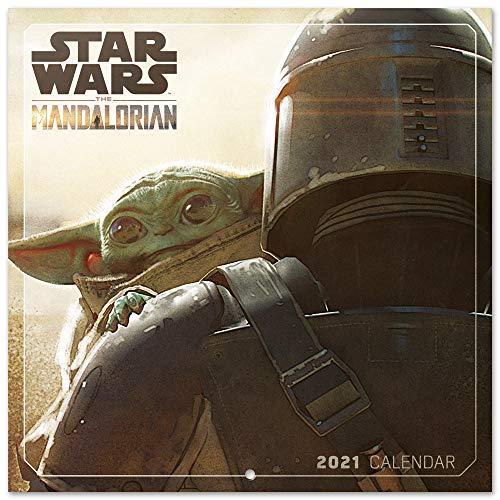ERIK - Calendario de pared 2021 The Mandalorian Star Wars, 30x30 cm, Producto Oficial, (Incluye póster de regalo)