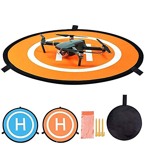 Hothuimin UAV Landing Pad Delantal de estacionamiento Drone Plegable Landing Pad Portable Landing Mat # 16-WRJJLD