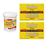 Sulfur Ointment Cream 2.6oz [1pack] | Sulfur Soap with...