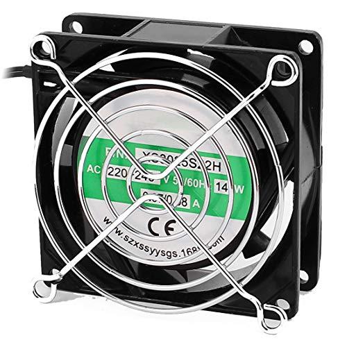 Sourcingmap 80x80x25mm Ventilador w protección de manos de metal y malla de filtro de polvo