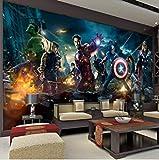 Los Vengadores Pared Mural Hulk Capitán América Thor Foto Papel Pintado Película Pared Personalizada Mural Vivero Sofá Tv Pared De Fondo Ancho 200cm * Altura140cm Un