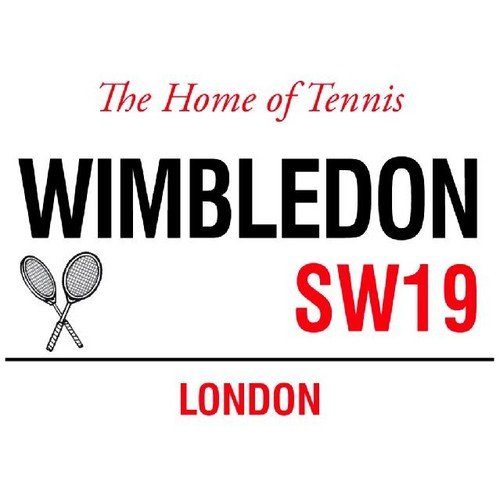 Wimbledon the Home of Tennis SW19 London Street Sign by The Original Metal Sign Company