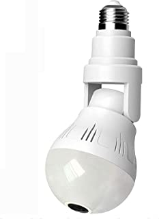 Light Bulb WiFi, E26 Wireless 360° Panoramic IP Camera, HD Night Vision Security Surveillance, Motion Detection, Two Way A...