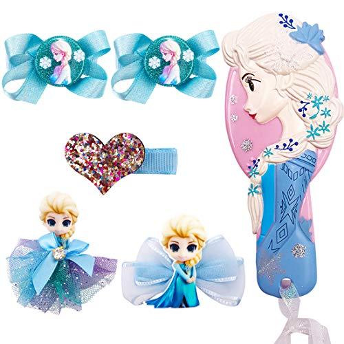 YUESEN Hair Clips Frozen ,Kinder Schleife Haargummis Haarschmuck Set, Mädchen Haarbögen Haarspangen mit Geschenkbox für Kinder Geburtstagsgeschenk Kindertagsgeschenk