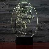 Tianyifengg 3D-LED-7 Farbe-Fernbedienung-Nachtlicht-Cupid Lovers Geschenk Lichter Tisch Tisch Halloween Dekoration Geschenke Kinder Abschlussfeiertag Lava Lampe