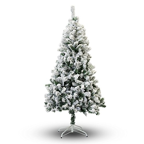 Perfect Holiday Christmas Tree, 8ft, Flocked Snow