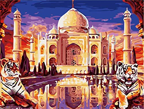 Puzzle 3D Puzzle 1000 Piezas Taj Mahal Tiger Paisaje Diy Arte Moderno De La Pared Regalo Único Decoración Para El Hogar