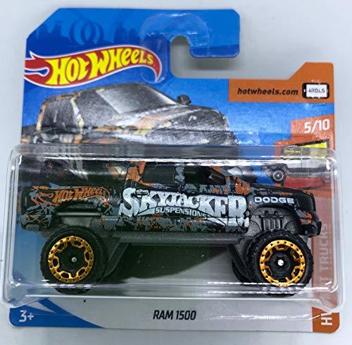 Hot Wheels 2018 RAM 1500 Black 5/10 HW Hot Trucks 298/365 (Short Card)