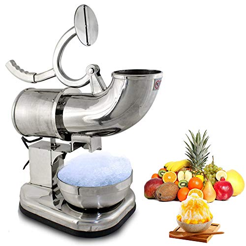 zinnor Commercial Ice Shaver Heavy Duty, Industrial Duty Ice Shaver Machine Dual Stainless Steel Blade Electric Shaved Ice Machine Countertop Snow Cone Maker,3-7 Days Delivery
