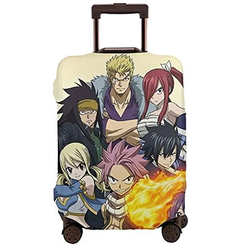 Fairy Tail - Funda para maleta unisex con protección contra el polvo, resistente al desgaste y protección para equipaje con funda extraíble