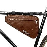 RZAHUAHU 100% Waterproof Bike Storage Frame Bag Bicycle Triangle Frame Bag, Bike Top Tube Cycling Corner Pouch Triangle Frame Bag for Cycling