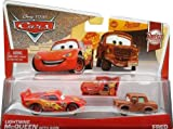 Disney/Pixar Cars, Rust-Eze Racing Die-Cast, Lightning McQueen with Sign and Fred #5,6/8, 1:55 Scale