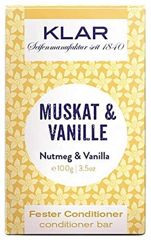 Klar Seifen fester Conditioner Muskat & Vanille, 100 g