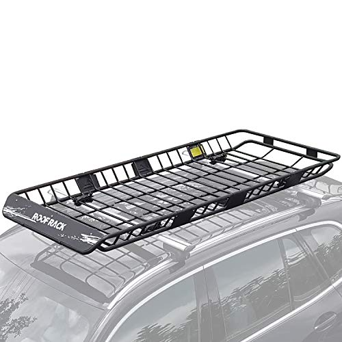 """Leader Accessories Upgraded Roof Rack 82""""x 39""""x 5'' Car Top Luggage Holder Carrier Basket Fit for SUV Truck Cars"""