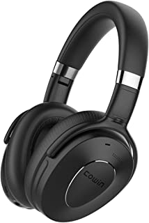 COWIN SE8 Active Noise Cancelling Headphones Bluetooth Headphones Wireless Headphones Over Ear with Mic/Aptx, Comfortable Protein Earpads, 30 Hours Playtime for Travel/Work, Black