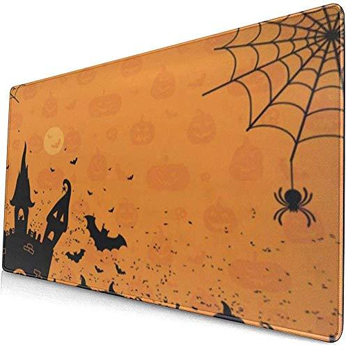Gaming Extended Mouse Pads mit Rutschfester Gummibasis Halloween Castle Pumpkin Spider 30X80 cm