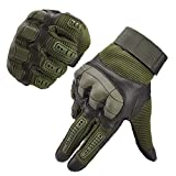 Hombre Táctica Guantes pantalla táctil Guantes Guantes Ciclismo Moto Guantes Outdoor Sport Guantes Fitness Guantes Army Gloves Ideal para airsoft, Militar, paintball, caza, color verde, tamaño large