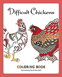 difficult chickens animal coloring books