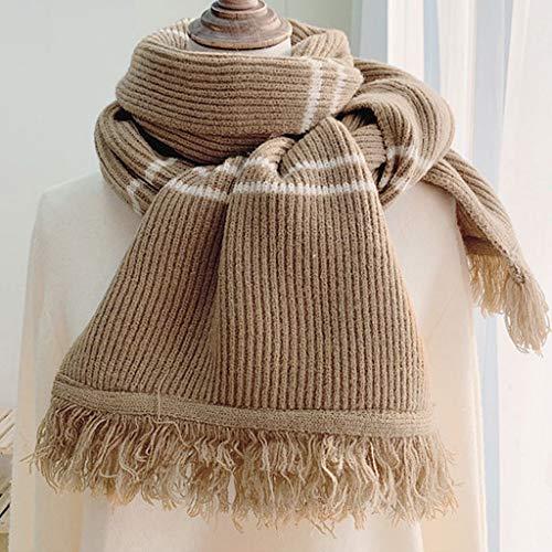 WYJBD 2020 New Winter Cashmere Sciarpe per Le Donne Moda Lavorato a Maglia Scialli Caldi e avvolge Foulard Bandana da Donna (Color : A)