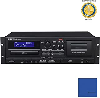Tascam CD-A580 Rackmount Cassette/CD/USB MP3 Player Recorder Combo with Microfiber and 1 Year Everything Music Extended Warranty