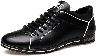 Scarpe Casual da Uomo Sneakers Basse con Lacci Sneakers Basse in Pelle Mocassini da Lavoro Antiscivolo