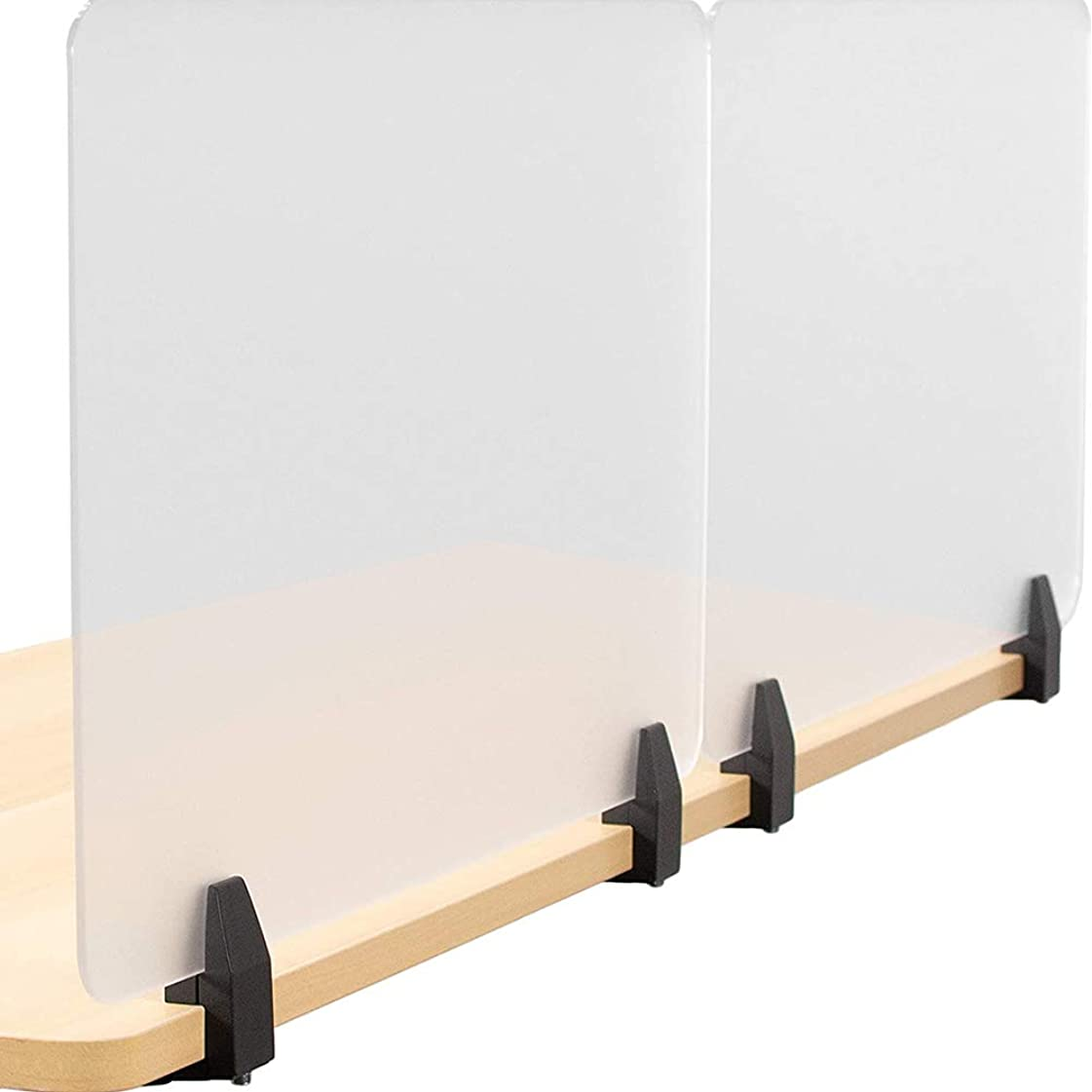 マーガレットミッチェル戦略助手アクリルデスクトップクリアプレキシガラスくしゃみガード、カウンタートップ立ちくしゃみガードプロテクター、レジ係、チェックアウト、カウンターに使用されるの安全なくしゃみガードキャスト板採用 特大足付き,2