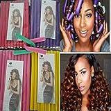 30pieces/set Hair Curling Flexi rods Hair Roller Curler Random Color Soft Foam Bendy DIY Styling Hair Sticks Tool Twist-flex Rods Christmas Gift for Girls