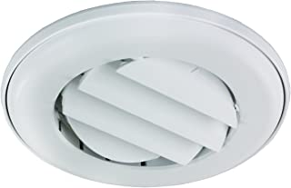 JR Products ACG25DPW-A Polar White Adjustable Ceiling Vent with 0.25