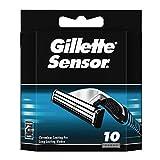 Gillette Sensor Recambio de Maquinilla de afeitar para hombre, 10recambios