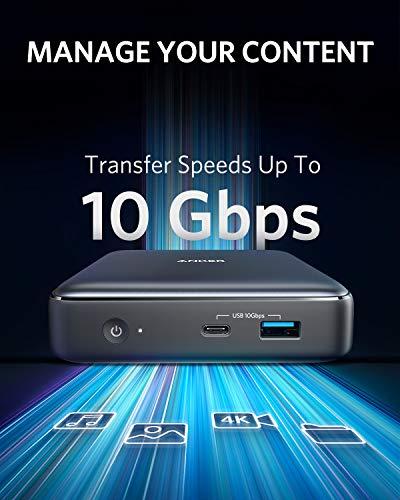 Anker PowerExpand 7-in-1 Thunderbolt 3 Mini Dock Station für USB-C Laptops, Max 45W zum Aufladen von Laptops, 4K HDMI, 1Gbps Ethernet, USB-A Gen 2, SD 4.0, (Kabel Nicht im Lieferumfang enthalten)