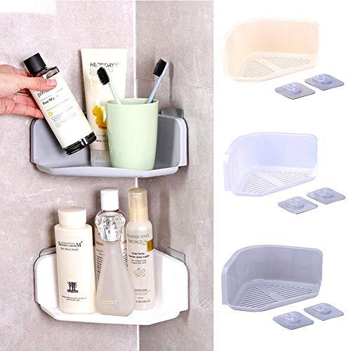 DSD 3 Colors Suction Cup Corner Shower Shelf Bathroom Shampoo Shower Shelf Holder Kitchen Storage Rack Organizer