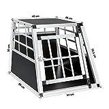 TechStylUK Pet Aluminium Car Dog Cage 6 Travel Puppy Crate Pet Carrier Transport (SMALL SINGLE DOOR ZX546A)