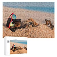 砂に埋もれたダックスフントの美しい犬(2) 300ピースのパズル木製パズル大人の贈り物子供の誕生日プレゼント