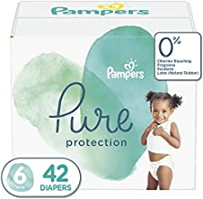 Diapers Size 6, 42 Count - Pampers Pure Protection Disposable Baby Diapers, Hypoallergenic and Unscented Protection, Super Pack