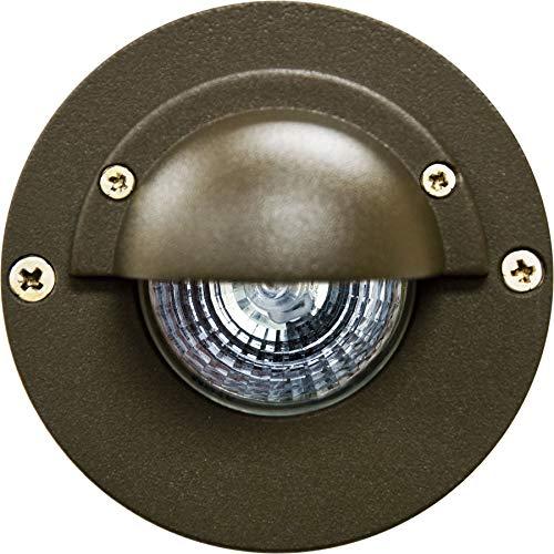 DABMAR LIGHTING LV625-LED7-BZ Half Moon Step Light 7W LED MR16 12V, Bronze
