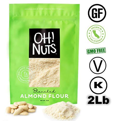 Oh! Nuts Blanched Almond Flour | Gluten-Free, Extra Fine Baking Delights | 2lb All-Natural Wheat Substitute | Dried Food Healthy Pantry Items | All-Purpose Kosher, Vegan, Paleo and Keto Friendly Diets