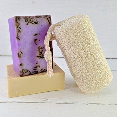 Loofah on a Rope   Loofah Sponge   Natural Loofah   Hanging Luffah   Body Cleansing   Body Exfoliation   Spa Gift