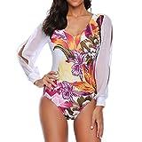 MOMOXI Bikini Playa Mujer, Sujetador sin Aros Push-up con Respaldo Floral y Sexy para Mujer Halter Bikini Traje de baño 2019 Novedad de Moda Caliente Ropa de Mujer Bohemia Ropa de Playa de Verano