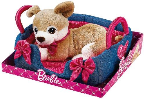 Lelly Barbie Pets Plüsch Spielzeug mit weichem Hundesofa Hundebett (braun)