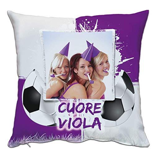 - sans Marque / Générique - Coussin Personnalisé Personnalisé Impression Photo Sport Football Coeur Violet Fiorentina