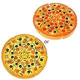 Yushu Kinder-Küche Pizza Party Fast Food Scheiben Schneiden Pretend Play Food Spielzeug (Material:...