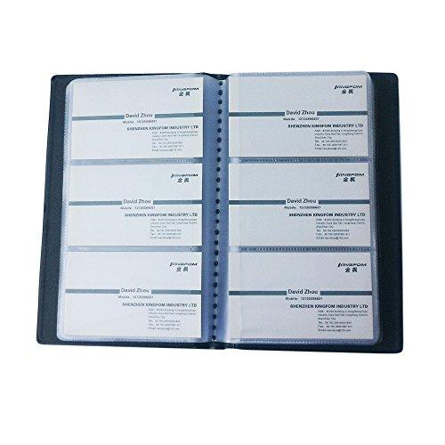 KINGFOM Tarjetero con capacidad para 240 tarjetas de visita, color negro